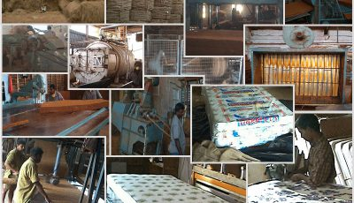 Fibroflex mattress manufacturing process