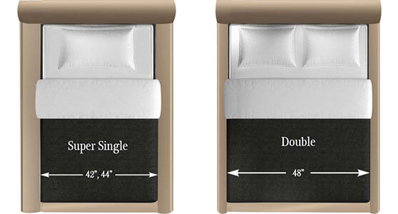 super single and double mattress size